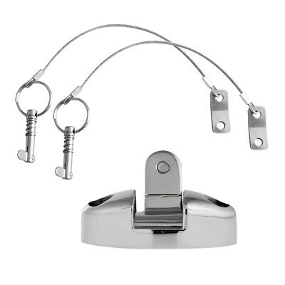 2pcs 316 Stainless Steel Quick Release Pin Lanyard & Boat Top Deck Hinge