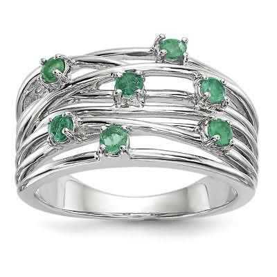 14k White Gold Emerald Ring Size 7 Y13892E/AA