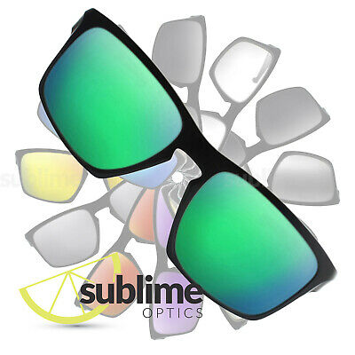 POLARIZED Metallic Emerald Green Replacement Lenses for Oakley Sliver XL OO9341
