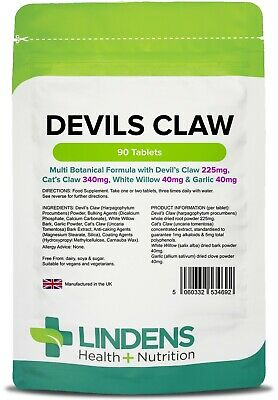 Devil's Claw Botanical Formula x 90 Tablets; Lindens
