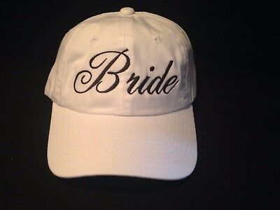 Embroidered Bride Hats Groom Hats  Bridal Hats  Bridal Shower Embroidered Hats
