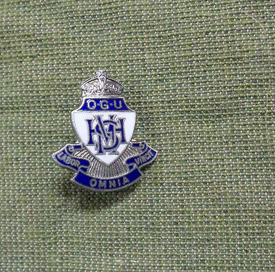 #d268. Old Girls' Badge From Maitland High  School, Work Conquers All