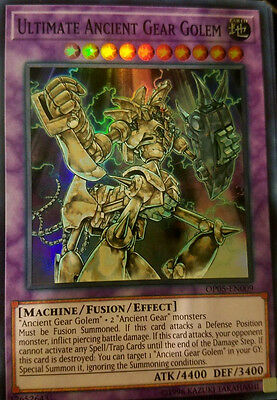 Yugioh Ots Tournament Pack 5 Op05 Ultimate Ancient Gear Golem Super Rare Holo