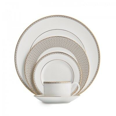 Waterford Lismore Diamond Gold 5Pc Place Setting