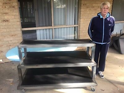 MOBILE 3 SHELF SHOP DISPLAY Custom Roll out display unit. Over $1,000 to replace