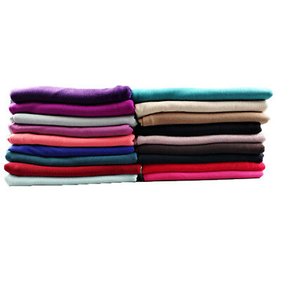 Instant Plain Two Loops Jersey Cotton Scarf Shawls Two Face Hijab Muslim Scarves