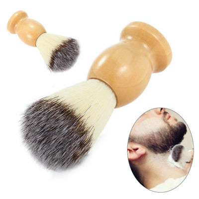 Fashion Men Father Gift Shave Shaving Bear Brush Wood Handle Razor Barber Tool