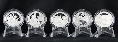 2017 S Silver Quarter Proof 5 Coin Set National Parks