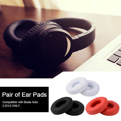 2pcs Replacement Ear Soft Cushion Pad for Beats Solo 2.0/3.0 Wireless Headset