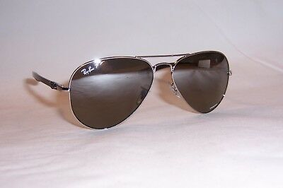 7f7cd346cf New RAY BAN Sunglasses 8317CH 003 5J SILVER GRAY SILVER MIRROR POLARIZED  8317