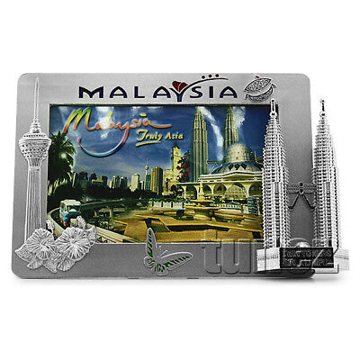 Malaysia Souvenir 4R Photo Frame KLCC Petronas Twin Towers KL Tower Stand Table