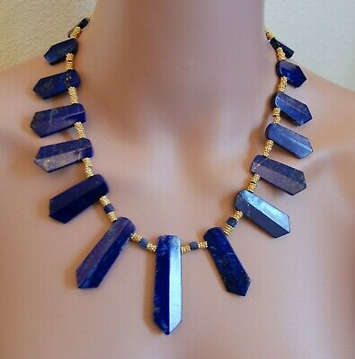 Lapis Lazuli  Egyptian Queen of the Nile Necklace - Museum Store Collection