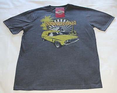 Holden Mens HJ Sandman Charcoal Printed Short Sleeve T Shirt Size XL New