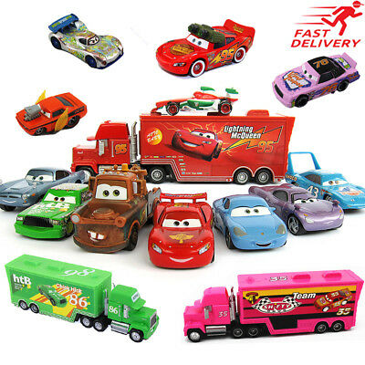 Cars 3 Pixar 1:55 Diecast Chick Hick Mcqueen Sally Mater Kids Model Toy
