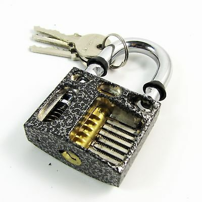 Perspective Visable Cutaway Inside Practice Padlock for Locksmith Training S11