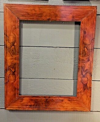 Antique Picture Frame French Wood Walnut 19th Century