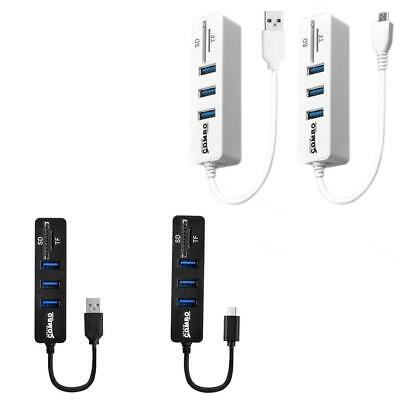 USB Hub Combo High Speed USB 2.0 Hub Splitter OTG 2 In 1 SD/TF Card Reader DD