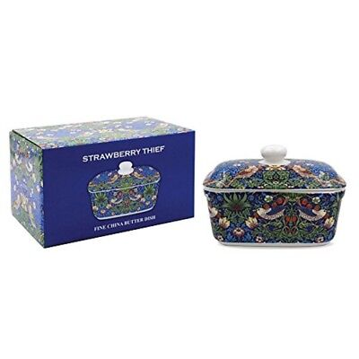L93226 Blue Strawberry Thief Butter Dish [2262]