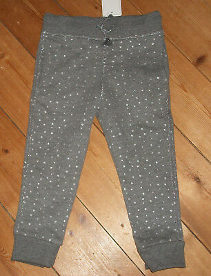 NEW Baby grey silver spots joggers jogging bottoms trousers 18 - 24 months