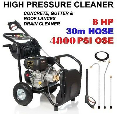 New Black Jet  High  Pressure Water Washer Cleaner  8 Hp  Self- Suction.