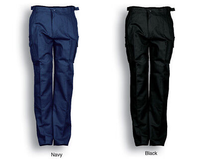 Stout Size Cotton Drill Cargo Work Pants With Utility Pockets Size 87ST to 132ST