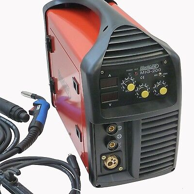 200 Amp MIG IGBT Welder, Gas/Gasless, Best Seller on eBay, 240v. Blackline Tools