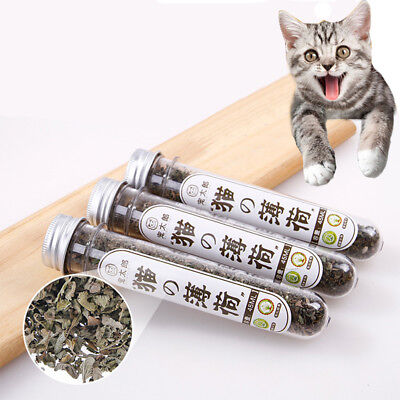 BL_ 1 Bottle High Quality Pet Kitten Cat Mint Snacks Gift Toys Catmint Grass Del