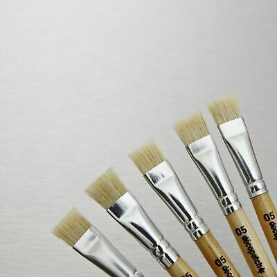 Decopatch Brushes No 5 Hog Bristle - Pack 5