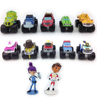 Blaze and the Monster Machines 12 pc Toy Car Truck Cake Toppers Set UK SELLER
