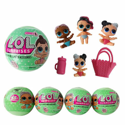 4PCS LOL Surprise Ball Doll Lil Outrageous Blind Mystery Christmas Toys for Kids