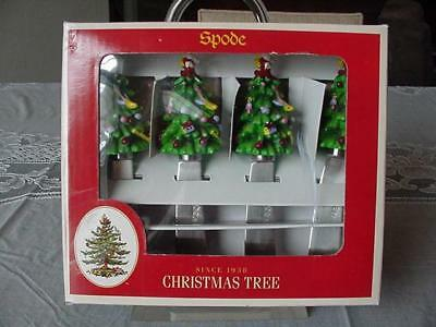 Spode christmas tree cheese knife 6 spreaders bnib 4 for Canape knife set