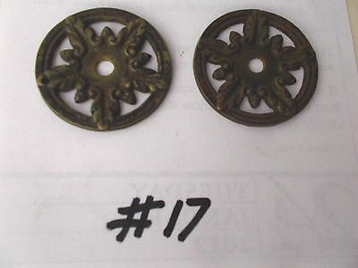 2 Matching Antique Ornate  Drawer Cabinet Furniture Pulls/ Handle Pic  #17