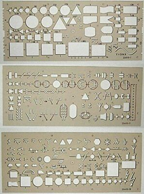 Koh-I-Noor Electro Templates 703071 - Set of 3