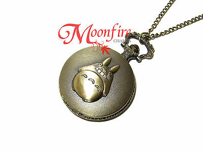 My Neighbour Totoro Totoro Character Pocket Watch Necklace Best Quality!!!