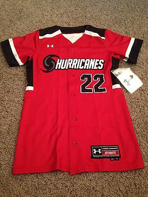 e9018bfef16 Under Armour Women s Hurricanes Softball Jersey Size Small NEW