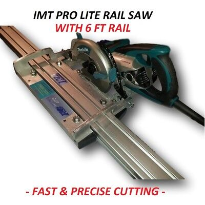 IMT PRO LITE Wet Cutting Makita Motor Rail, Track Saw for Granite with 6 Ft Rail