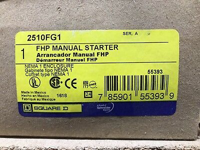 Square D 2510FG1 FHP Manual Starter ** New In Box, Free Shipping **
