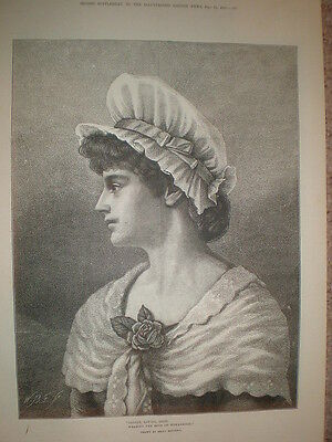 Gentle Loving Good Wearing the Rose of Womanhood from Emily Mitchell 1883 print