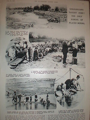 Photo article School of Placer Gold Mining Denver Colorado USA 1933