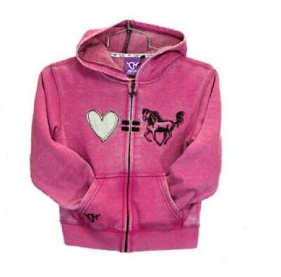 e77017a3f354 COWGIRL HARDWARE TODDLER Girl s Pink Horse Heart Embroidered Jeans ...