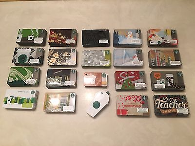 Starbucks gift card bulk lot of 400 Cards 20 Sets of 20 Different Gift Cards NEW