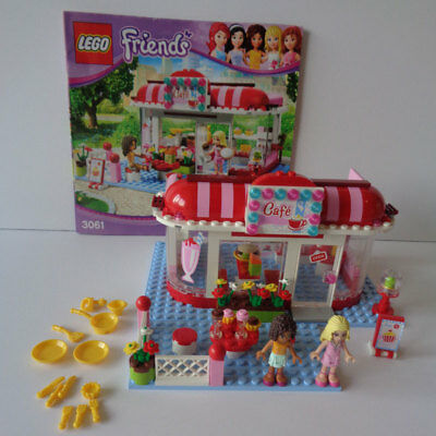 Lego Friends 3061 City Park Cafe 99 Complete With Minifigures No