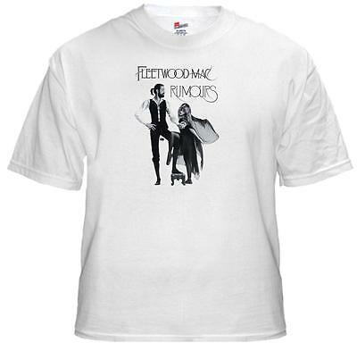 Tee Shirt New Unisex 1970's Rock Legends FLEETWOOD MAC 'RUMOURS' Quality T Shirt
