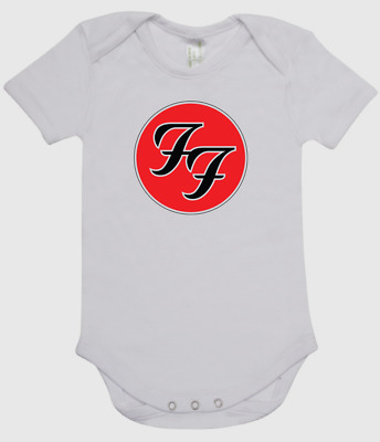 BABY ONE PIECE, ROMPER. printed with FOO FIGHTERS logo on quality romper