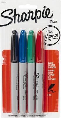 Fine Point Permanent Markers - Sharpie - Set of 4 Assorted