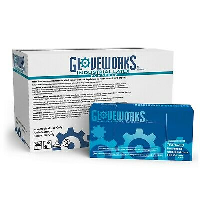 1000 GLOVEWORKS Ivory Latex Industrial  Disposable Gloves