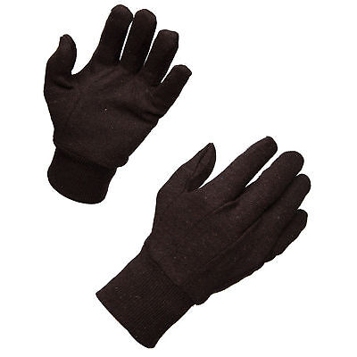 AMMEX Brown Jersey Knit Work Gloves (Bag of 12 pairs)