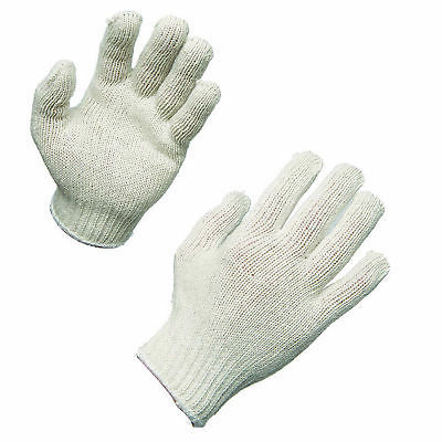 AMMEX Bleached Knit Work Gloves (Bag of 12 pairs)
