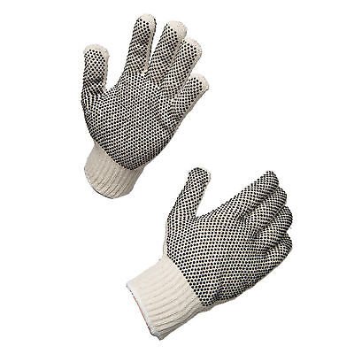 AMMEX String Knit Double PVC Work Gloves (Bag of 12 pairs)