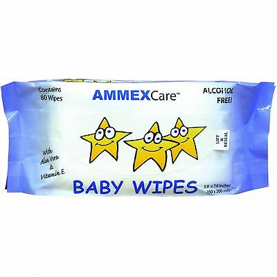 AMMEXCare Baby Wipe Refills (Refill of 80 wipes)